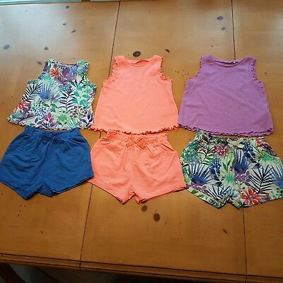 NEXT Girl's Vests, Shorts Summer Clothes Bundle Size 12 to 18 Months