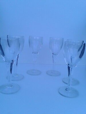 6 Crystal Sherry Liqueur Glasses - unused - quality