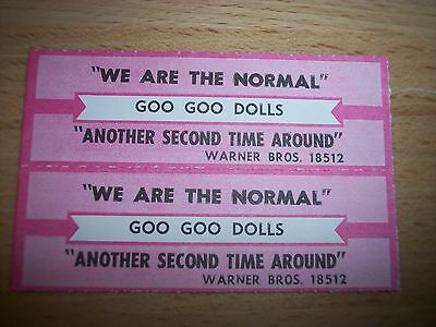 """2 Goo Goo Dolls We Are The Normal Jukebox Title Strip CD 7"""" 45RPM Records"""