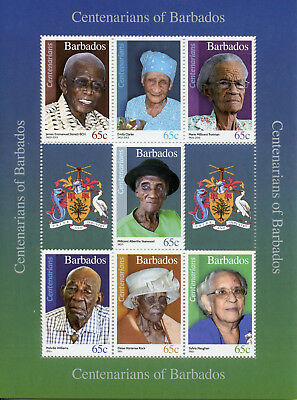 Barbados 2016 MNH Centenarians of Barbados 7v M/S People on Stamps