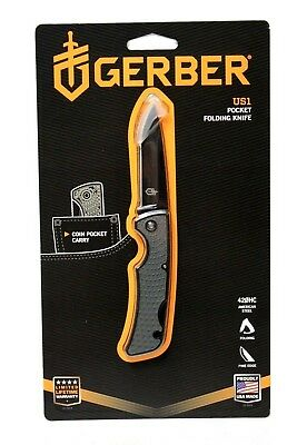 "Gerber US1 Pocket Folding Knife with 2.6"" Black Blade 31-003040"