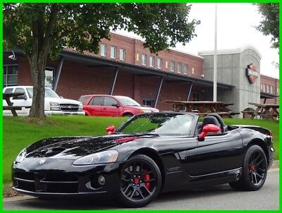 Dodge Viper DODGE VIPER SRT10 V10 BLACK CONVERTIBLE ALPINE BREMBO RED SUEDE 2004 DODGE VIPER SRT10 CONVERTIBLE BLACK CLEAN CARFAX WE FINANCE & TRADE