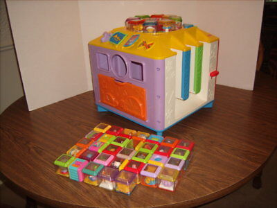 Fisher Price INCREDIBLOCK  Activity Center Cube 41 Peek-A-Boo Blocks 8 SPECIAL