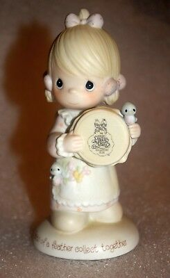 1986 Precious Moments 'Birds of a Feather Collect Together' Porcelain Figurine