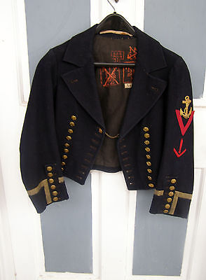 Scarce WWI Imperial German 1st Class Torpedoman Coat Jacket Issued Marks vg cond