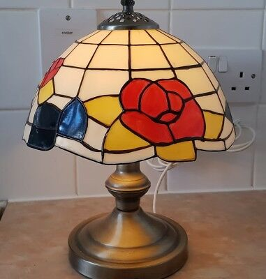 Vintage Silver Tiffany Style Lamp 13''