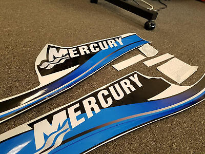 Mercury 200 Saltwater Blue Decal Kit