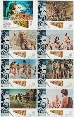WHEN DINOSAURS RULED THE EARTH (1970) Lobby Cards Complete Set of 8