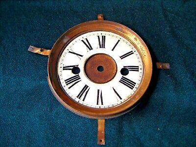 Antique Clock Dial Face Bezel 12cms Ceramic Enamel