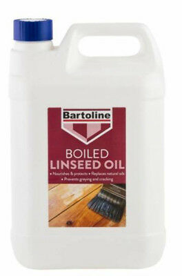 Bartoline Boiled Linseed Oil 5 Litre Garden Furniture Wood Sealer and Protector