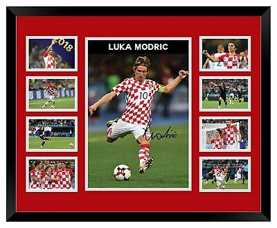 Luka Modric Croatia 2018 World Cup Signed Limited Edition Framed Memorabilia