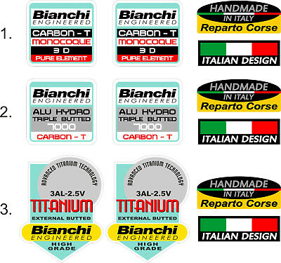 BIANCHI FRAME DECALS - Carbon T Monocoque, Alu Hydro Triple Butted ...