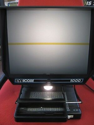 Eyecom 1000 Portable Microfiche Reader with Cover