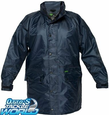 Prime Mover OXJ206 Waterproof Jacket (Navy) BRAND NEW at Otto's Tackle World BRA
