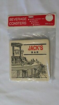 Coasters Jacks Bar Made in USA Mancave