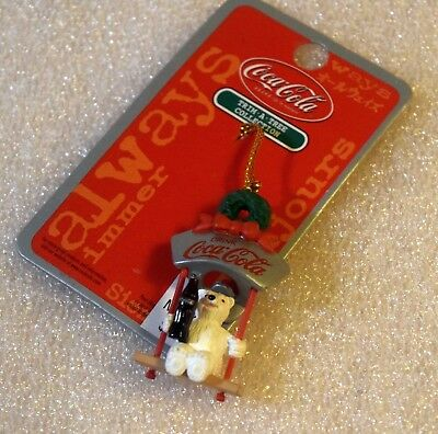 Trim-A Tree Miniature Christmas Ornament Coca-Cola polar Bear