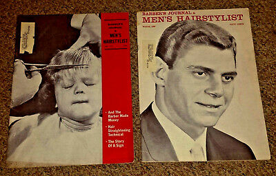 Vtg Barber Mags - Barber's Journal & Men's Hairstylist March 1963 & July 1963