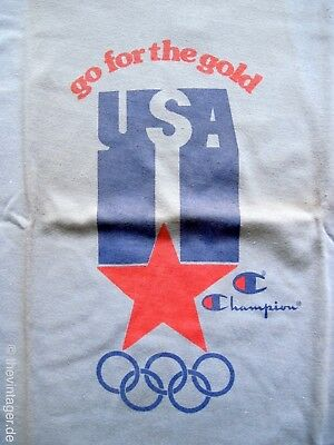 NOS CHAMPION OLYMPIC GAMES T-Shirt X True Vintage Team USA Go For Gold Romantic