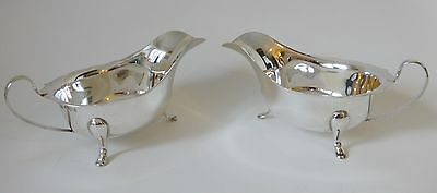 Vintage pair of silver Sauce Boats Sheffield 1958 E.V. 6.72 tr oz 209.2 g C