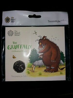 2019 Royal Mint The Gruffalo 50p Brilliant Uncirculated Coin Presentation Pack