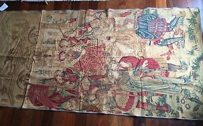 "French Rambulier Tapestry - The Crowning of Charlamagne - 53"" x 106"""