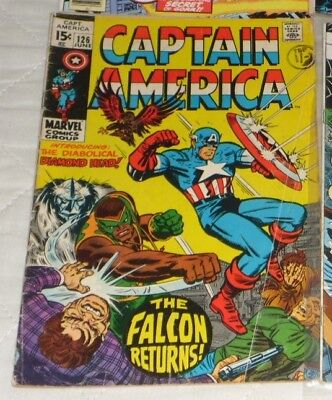 Captain America 126# 1970 The Falcon Returns Great Start 2.99