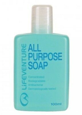 Lifeventure All Purpose Biodegradable Antibacterial  D of E Soap 100ML 62060