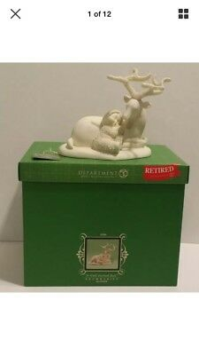 """Dept 56 Snowbabies """"A Well-Earned Rest"""" Retired 2006 Christmas 56.69498 In Box"""