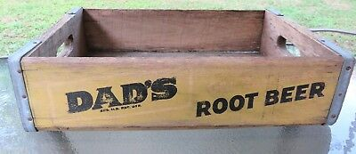 Vintage DAD'S Root Beer Wooden Crate Bottle Carrier