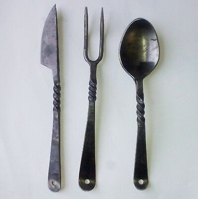 Hand Forged Medieval Cutlery Re-enactment LARP Costume Pagan Cosplay Viking