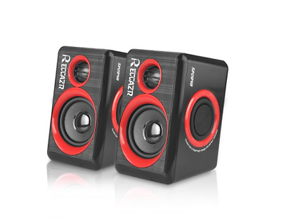Computer Speakers Surround Subwoofer Heavy Bass USB Wired Powered Multimedia