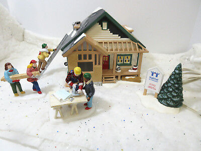 Dept 56 Snow Village A Home in the Making Habitat for Humanity 56.54979
