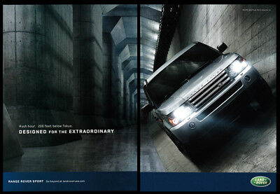 Land Rover print ad 2006 in tunnel below Tokyo - Designed for the Extraordinary