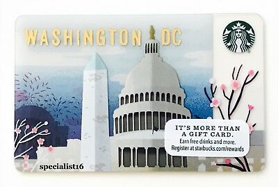 2016 Starbucks Washington DC Capitol City State Collectible Gift Card New