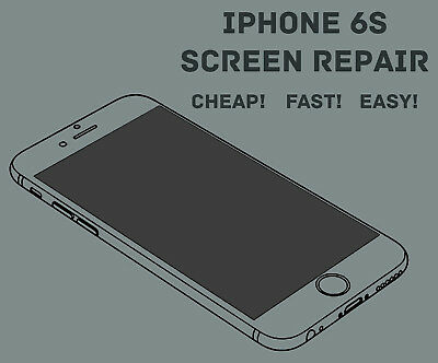 Apple iPhone 6S LCD Digitizer Glass Screen Replacement Repair Service Fast!!!