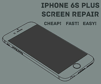 Apple iPhone 6S PLUS LCD Digitizer Glass Screen Replacement Repair Service Fast!