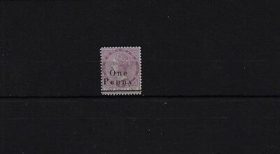 DOMINICA SG19, 1d ON 1/- MAGENTA LIGHTLY MOUNTED MINT