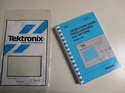 Tektronix 2465B 2455B 2445B Oscilloscope & options operators instruction Manual