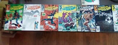 The Amazing Spider Man #289 -293; #295 - 296; #298 - 302. READING QUALITY