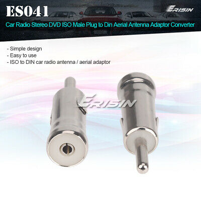 ISO female to Din male Radio Aerial Antenna Adapter Converter For Car Stereo DVD