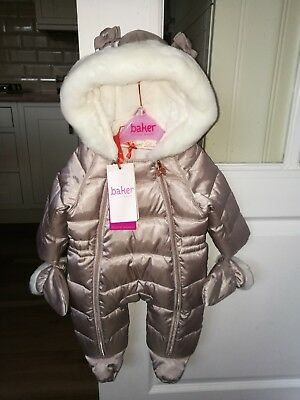 Ted Baker baby Girls Pearl Shower Resistant Snowsuit - Age 0-3 Months -BNWT