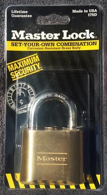 NEW Master Lock Padlock, Set Your Own Combination Lock, 2 in. Wide, 175D