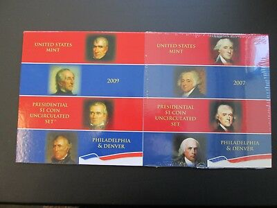 2007 & 2009 United States Presidential Uncirculated Sets