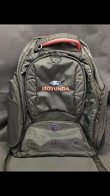 Ford Motor Company Rotunda Elleven Checkmate Backpack Rare Suitcase Carry On Bag