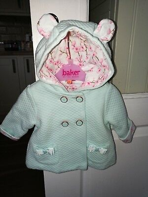 Ted Baker Baby Girls Jacket Age 0-3  Months Pretty Detail Worn Once