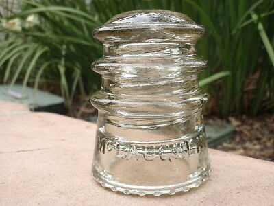 *** SCARCE *** OFF CLEAR STRAW McLAUGHLIN No 10 Excahnge Insulator
