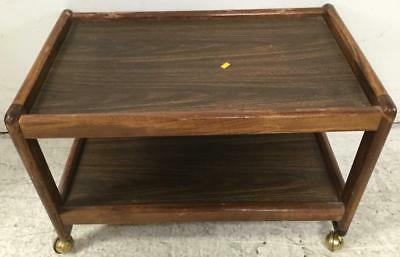 Vintage Rolling Wood Tv Cart Lot 2487