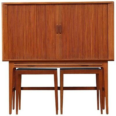 Kurt Ostervig Tambour Door Modern Teak Bar Set Lot 2398