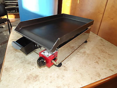 Lpg griddle / hotplate / barbecue / BBQ / 27x40 cm Gasgrill Stahl-Plancha