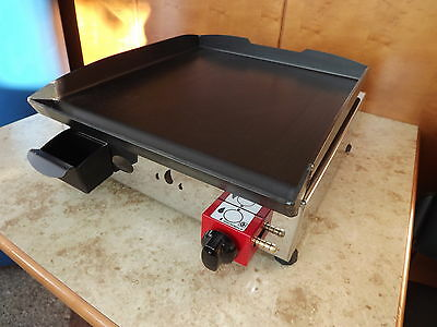 Lpg Griddle / Barbecue / BBQ / Hot Plate  40 x 40 cm / Gasgrill Stahl-Plancha